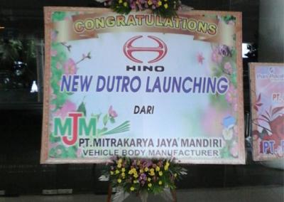 Bunga papan Grand Launching di balikpapan