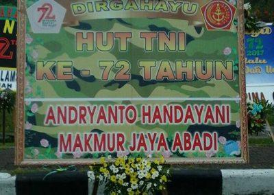 Papan Ucapan HUT TNI Balikpapan